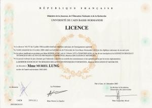 Diplôme licence STAPS